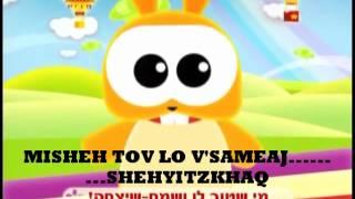 Video Si eres feliz y lo sabes aplaude  fonetica hebrea download MP3, 3GP, MP4, WEBM, AVI, FLV Juli 2018