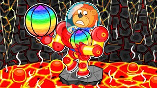 Lion Family 🌋 Iron Robot #18. The Floor is Lava in Volcano   Cartoon for Kids