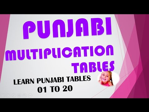 Printables 1to20table learn punjabi table from 01 to 20 www devnagrisoft com youtube com