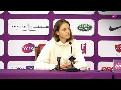 2018 Qatar Open press conference: Karolina Pliskova 'I'll have to play better'