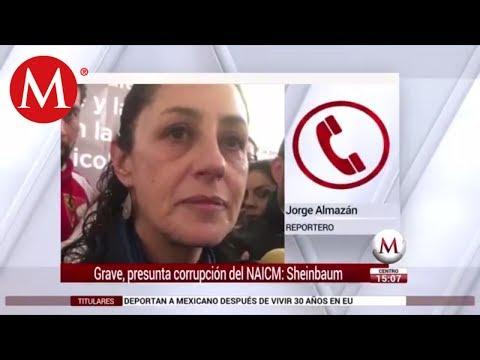 Corrupción en nuevo AICM es sumamente grave: Claudia Sheinbaum