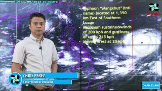 DOST-PAGASA Press Conference : Typhoon Mangkhut ( International name) ,11AM September 12, 2018