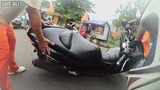 Kecelakaan 2 kali dalam sehari saat sunmori   Honda PCX 150