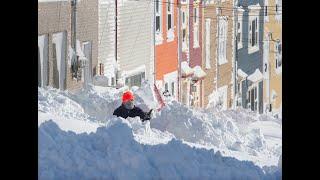 Blizzard historique à Terre-Neuve