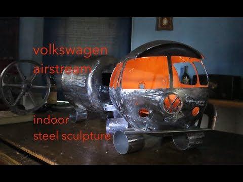 Volkswagen Airstream steel sculpture  DIY metal art hacks