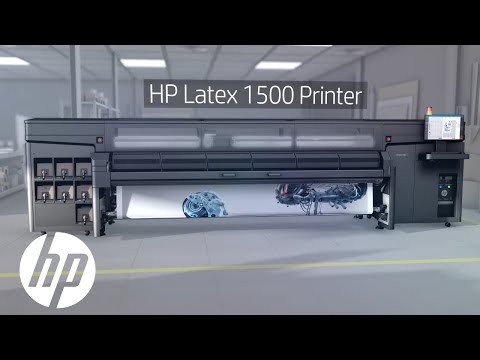 HP Latex 1500 Printer Video Product Tour: Affordable Superwide | HP Latex | HP