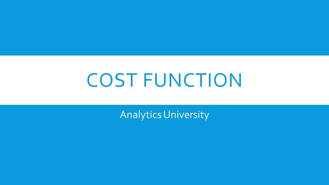 cost function machine learning