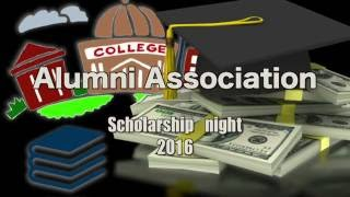 Alumni Association Scholarship Night  2016