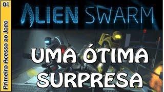 ALIEN SWARM GAMEPLAY - Primeiras impressões - missão offline solo
