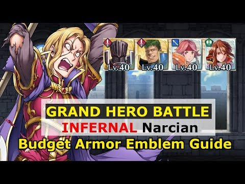 [FEH] Narcian Grand Hero Battle Elite Quest - Budget Armor Emblem Guide - Fire Emblem Heroes
