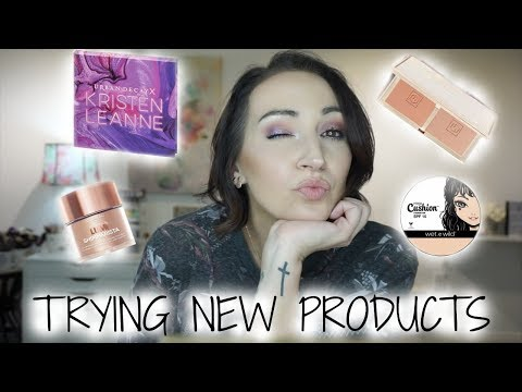 GRWM   TRYING NEW PRODUCTS   UD X KRISTEN LEANNE