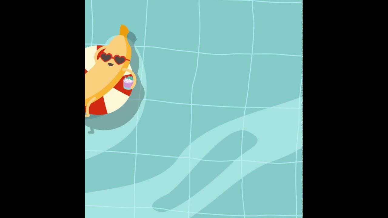Floating Banana Animation