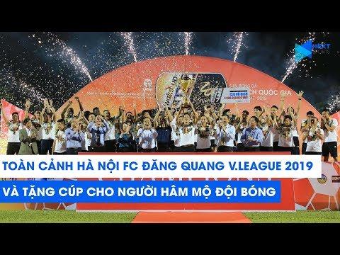 Màn nâng Cúp vô địch V.League 2019 ĐỘC NHẤT VÔ NHỊ của Hà Nội FC với người hâm mộ | NEXT SPORTS