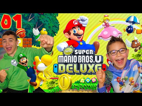 On Démarre une Nouvelle Aventure ! - Super Mario Bros U Deluxe Épisode 1 - Nintendo Switch co-op