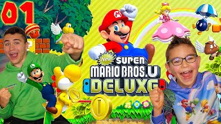 On Démarre une Nouvelle Aventure ! - Super Mario Bros U Deluxe Épisode 1 - Nintendo Switch co-op
