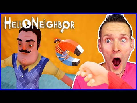 Found the MAGNET+CROWBAR and SECRET MAGNETIC MACHINE  Hello Neighbor
