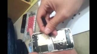 아이폰4 앞유리 뜯기 (수리하기)