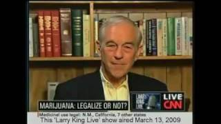 Ron Paul Discuss's Marijuana On Larry King Live!