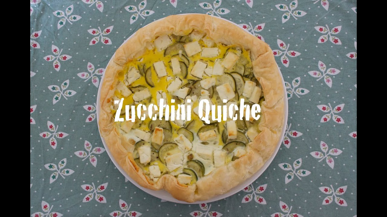 rezept zucchini quiche mit feta bl tterteig schnell. Black Bedroom Furniture Sets. Home Design Ideas