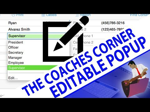 FileMaker Coaches' Corner - Tip 4 - Editable Pop-up Menu - Custom Function