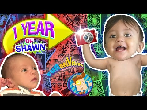 1 YEAR OF SHAWN! One Picture Daily Vlog 🎂 Baby's First Birthday (FUNnel Vision Learning Candles)