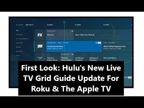 First Look: Hulu's New Live TV Grid Guide Update For Roku & The Apple TV