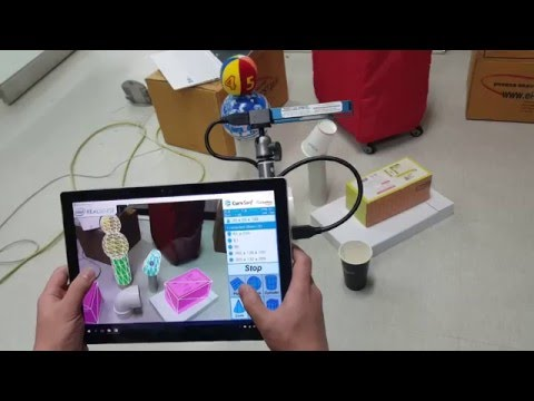 Augmented Reality: Real time geometric feature extraction and annotation