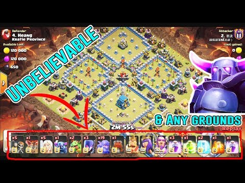 UNBELIEVABLE!! ANY GROUNDS ATTACK STRATEGY DESTROY TH12 3-STAR ( Clash Of Clans )