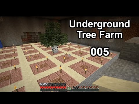Minecraft Lets Play 005 || Cave Trees