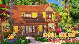 SMALL SULANI FAMILY HOME 🌊 | The Sims 4: Island Living | Speed Build