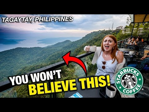 Philippines Has MOST INSANE Starbucks In The WORLD?! Tagaytay Is CRAZY!