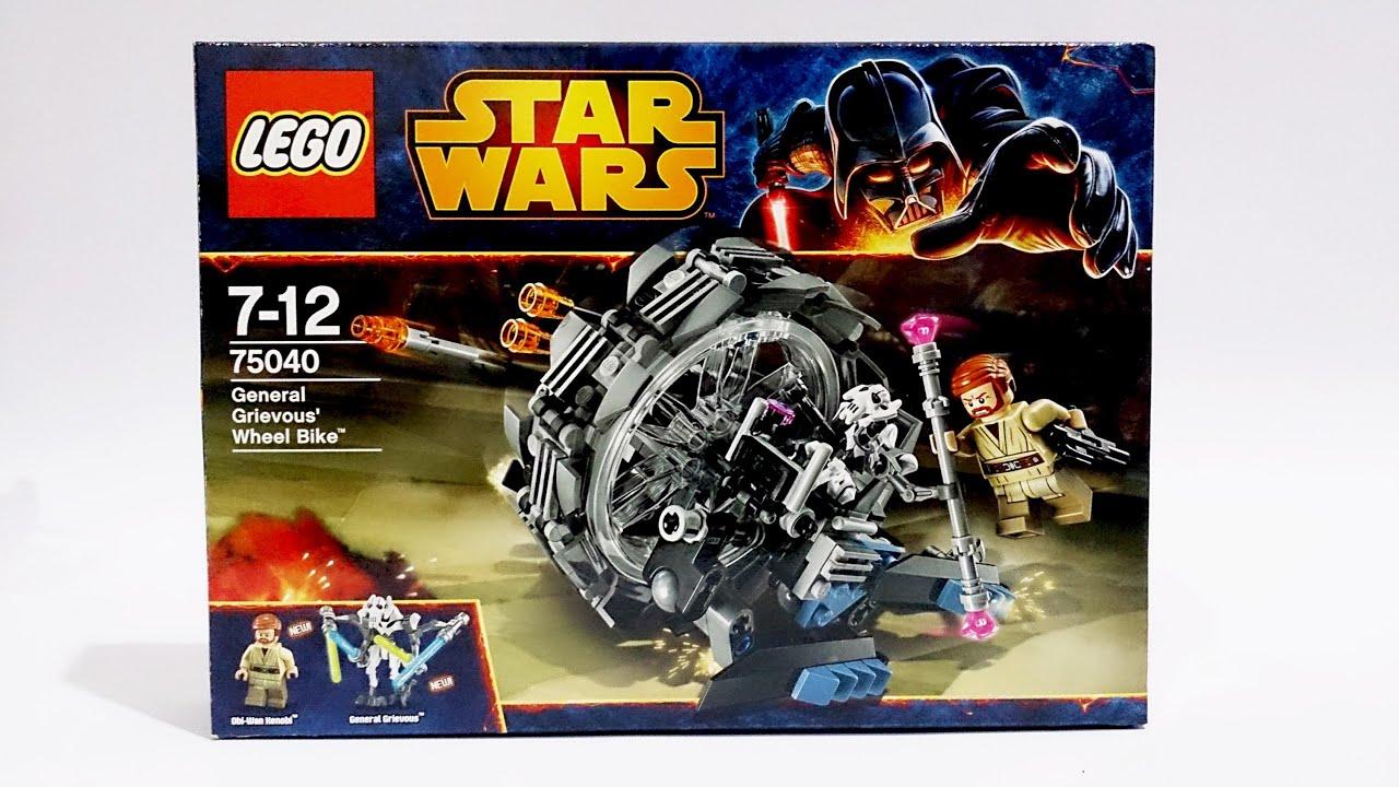 lego star wars 75040 general grievous wheel bike speed build
