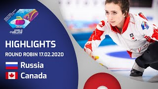 HIGHLIGHTS: Russia v Canada - Women's round robin - World Junior Curling Championships 2020