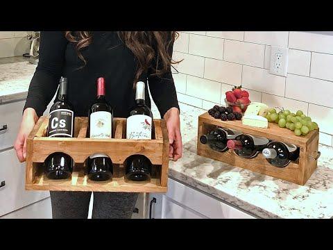 Quick & Easy $10 Wood Wine Holder