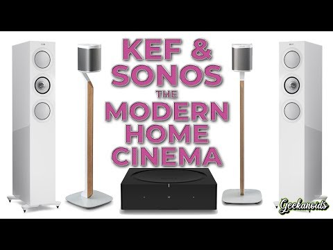 KEF R7 Speakers And SONOS The Modern Home Cinema Ft Flexson