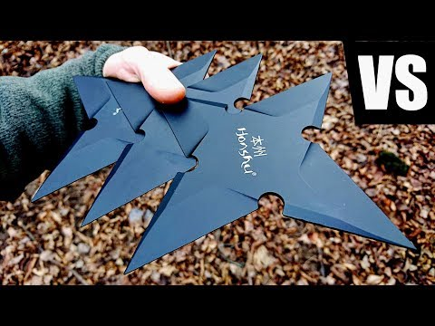 Full Auto Throwing Stars VS REAL LIFE Naruto (Honshu Large Throwing Star ULTIMATE Test)