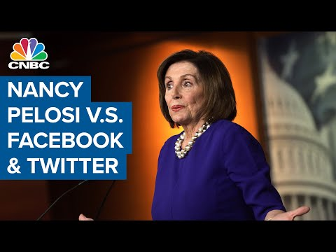 Nancy Pelosi in dispute with Facebook and Twitter
