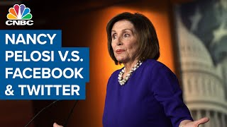 Cnbc's eamon javers reports on nancy pelosi's dispute with facebook and twitter.a fierce behind-the-scenes between house speaker pelosi's offic...