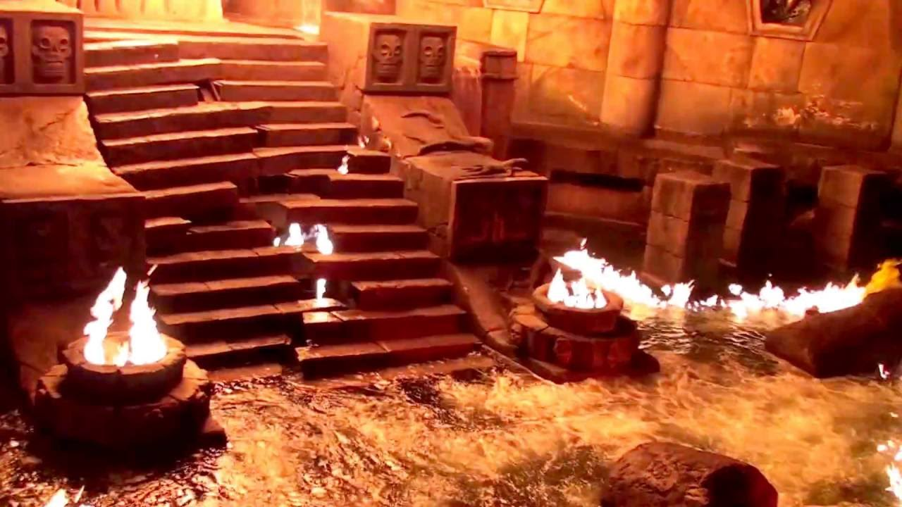 Port Aventura Templo Del Fuego порт авентура аттракцион храм огня