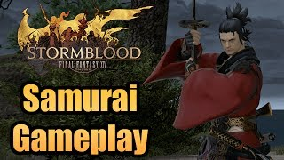 FFXIV: Stormblood - First look at Samurai! Hands-on gameplay + all actions!