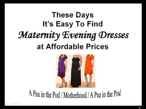 Where to find Maternity Evening Dresses