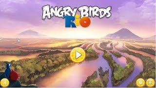 🐓🕊🦅🐦 Angry Birds Rio. Walkthrough, longplay. PC, Windows.