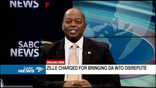 BREAKING NEWS: Zille charged with bringing the DA into disrepute