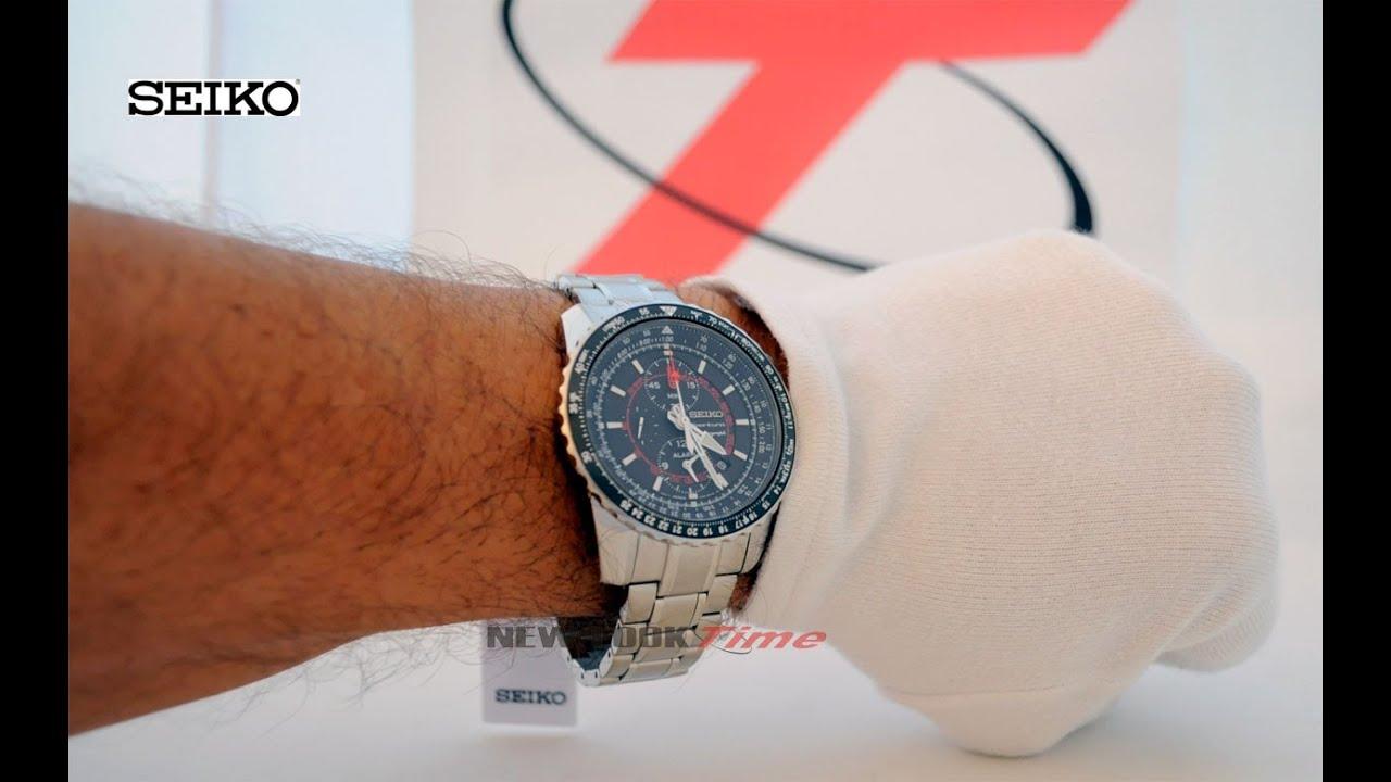b3db1884574 Relógio masculino da SEIKO 7T62BT 1 - Coleção Sportura Aviator - YouTube