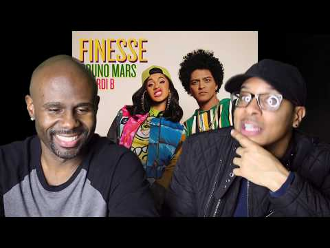 Bruno Mars  Finesse Remix Feat Cardi B REACTION!!!