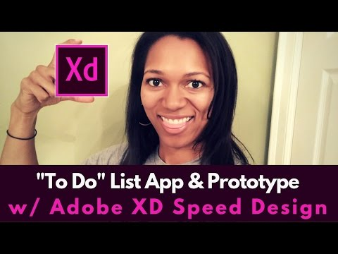 To Do List App & Prototype | Adobe XD Speed Design
