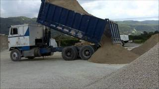 International 9670 Eagle Tipping Out A Full Load Of Aggregate