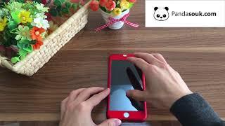 Coque 360° Silicone et verre trempé iPhone - PandaSouk
