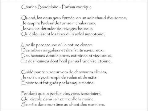 Baudelaire Parfum Exotique Quand Les Deux Yeux Fermés