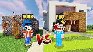 NOOB VS PRO 😂 PASAMOS DE CASA NOOB A CASA PRO EN MINECRAFT 😱 Serie de Mods (Trollino y Timba) #2